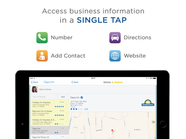 White & Yellow Pages on the App Store