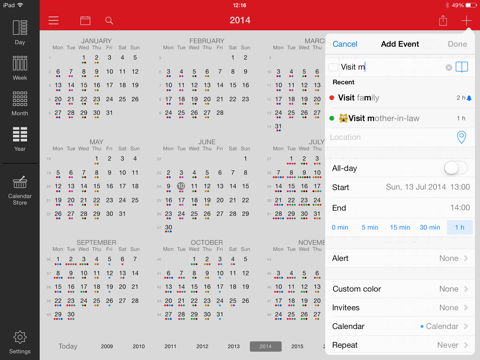 WeekCal for iPad iPad app afbeelding 4