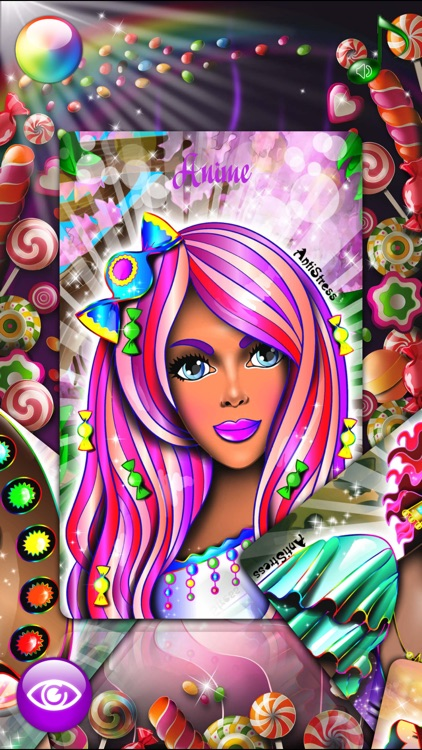 Candy Princess Adult Coloring
