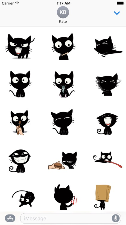 Black Cat the Dancer Stickers