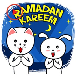 Ramadan With Cat And Rabbit Animated Stickers
