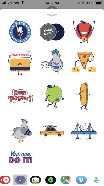 TCS NYC Marathon Sticker Pack screenshot-4