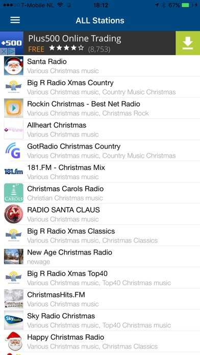 screenshots - Country Christmas Radio
