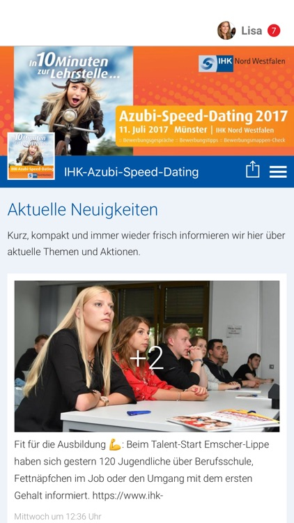 ihk nord westfalen azubi speed dating