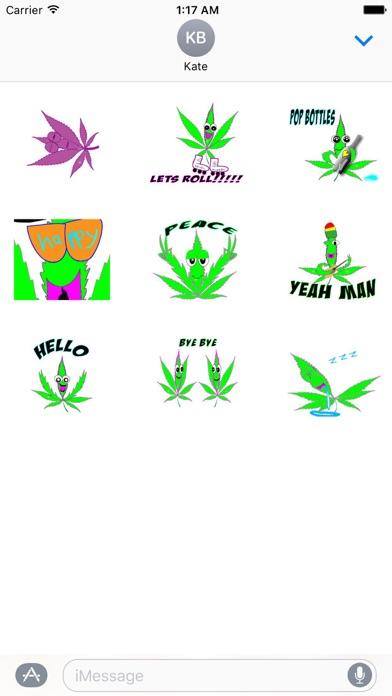 Animated Happy Weed Sticker screenshot 2