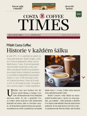 Costa Coffee Times noviny - náhled