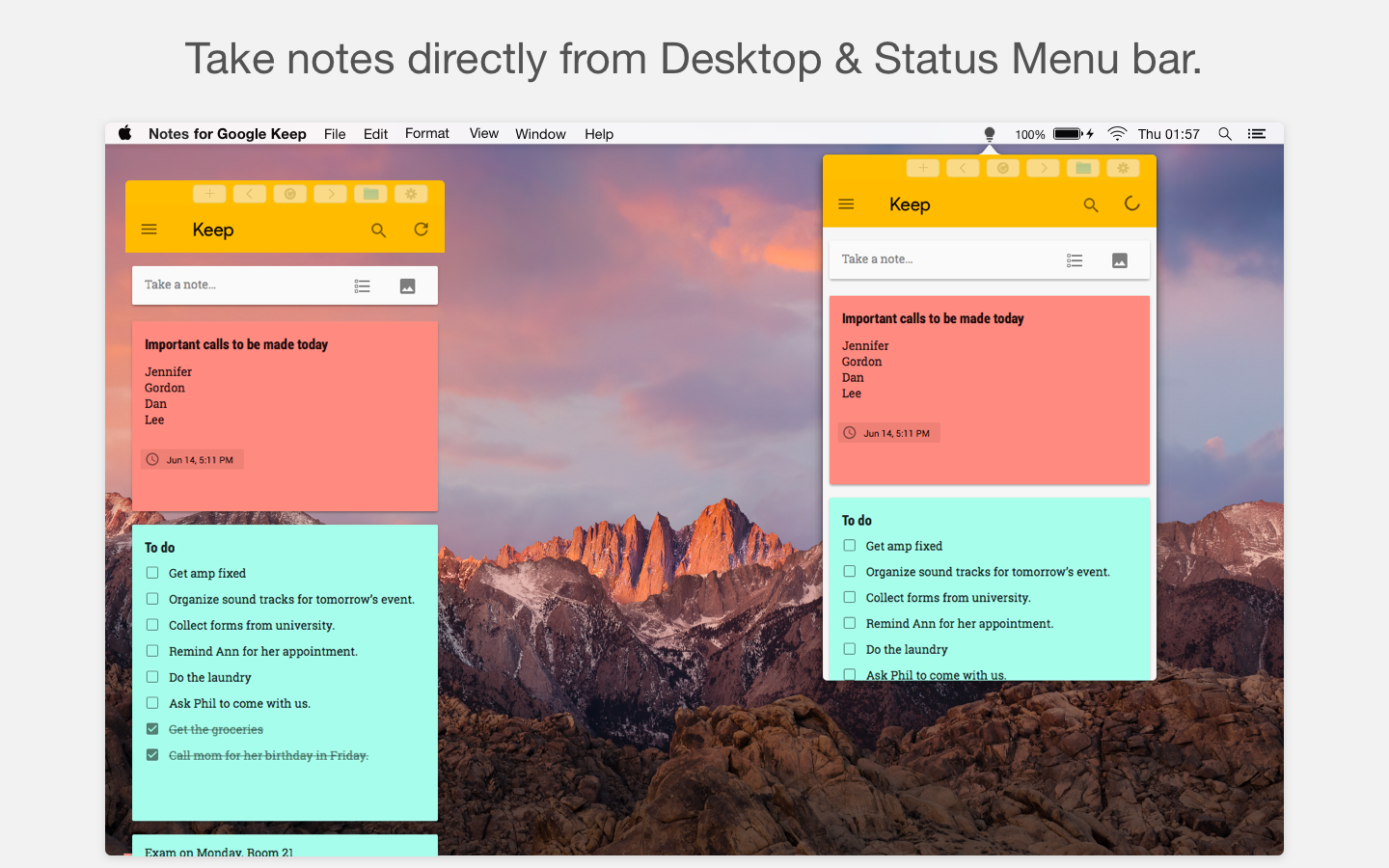 Creating Sticky Notes