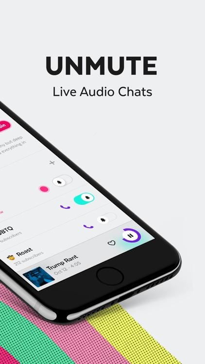 Unmute - Live Audio Chats