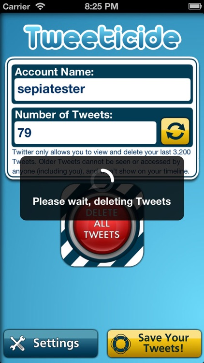 Tweeticide - Delete All Tweets