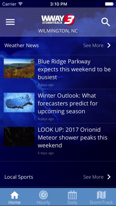 WWAY TV3 StormTrack 3 Weather for Windows