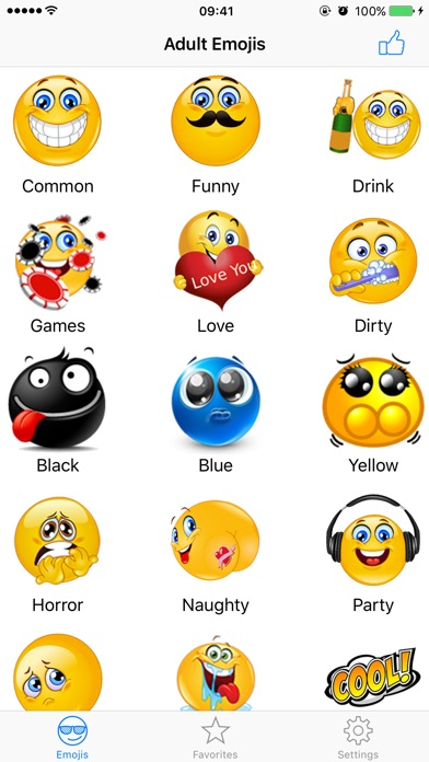 Adult Emojis Smiley Face Text app image