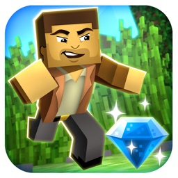 3d Block-Head Jungle Survival Pixel Runner