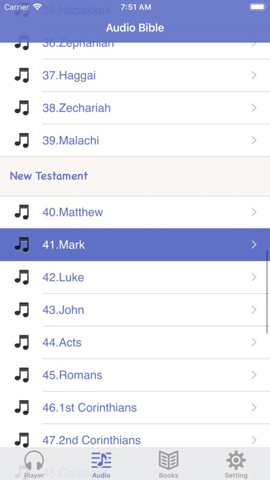 Screenshot for NKJV Bible (Audio & Book) in United States App Store