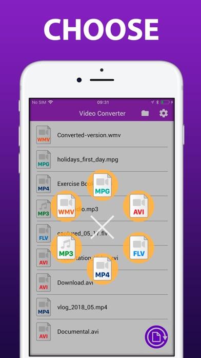 Видео конвертер - Формат файла