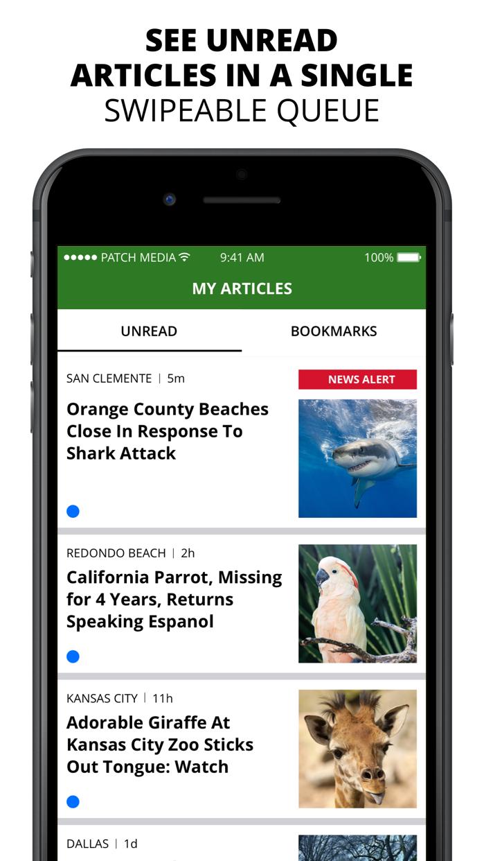 Patch - Local News Screenshot