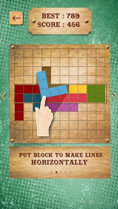 Retro Block Puzzle Game screenshot two