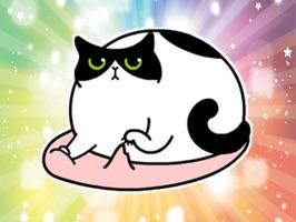 Fat Lazy Cat - Fx Sticker