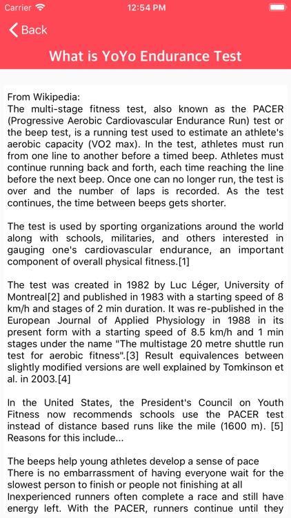 YO YO Endurance Test screenshot-5