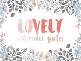 Lovely Watercolor Quotes