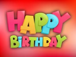 Happy Birthday Party Sticker
