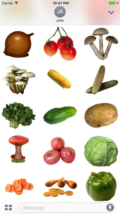 Fun Vegetables Stickers +