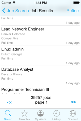 Screenshot of Jobs and Career Search