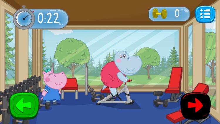 Fitness Games: Hippo Trainer screenshot-3
