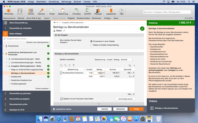Wiso Steuer 2018 Im Mac App Store