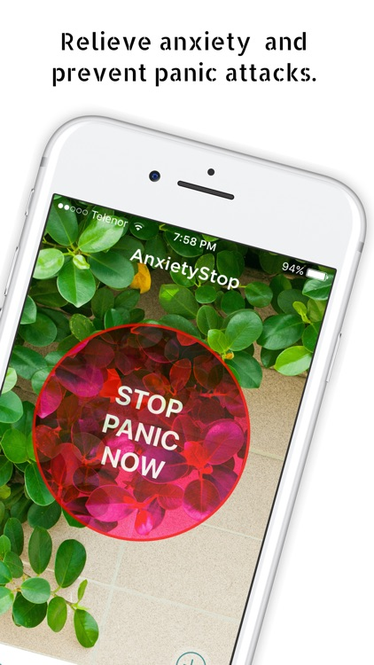 Anxiety Stop, panic attack aid
