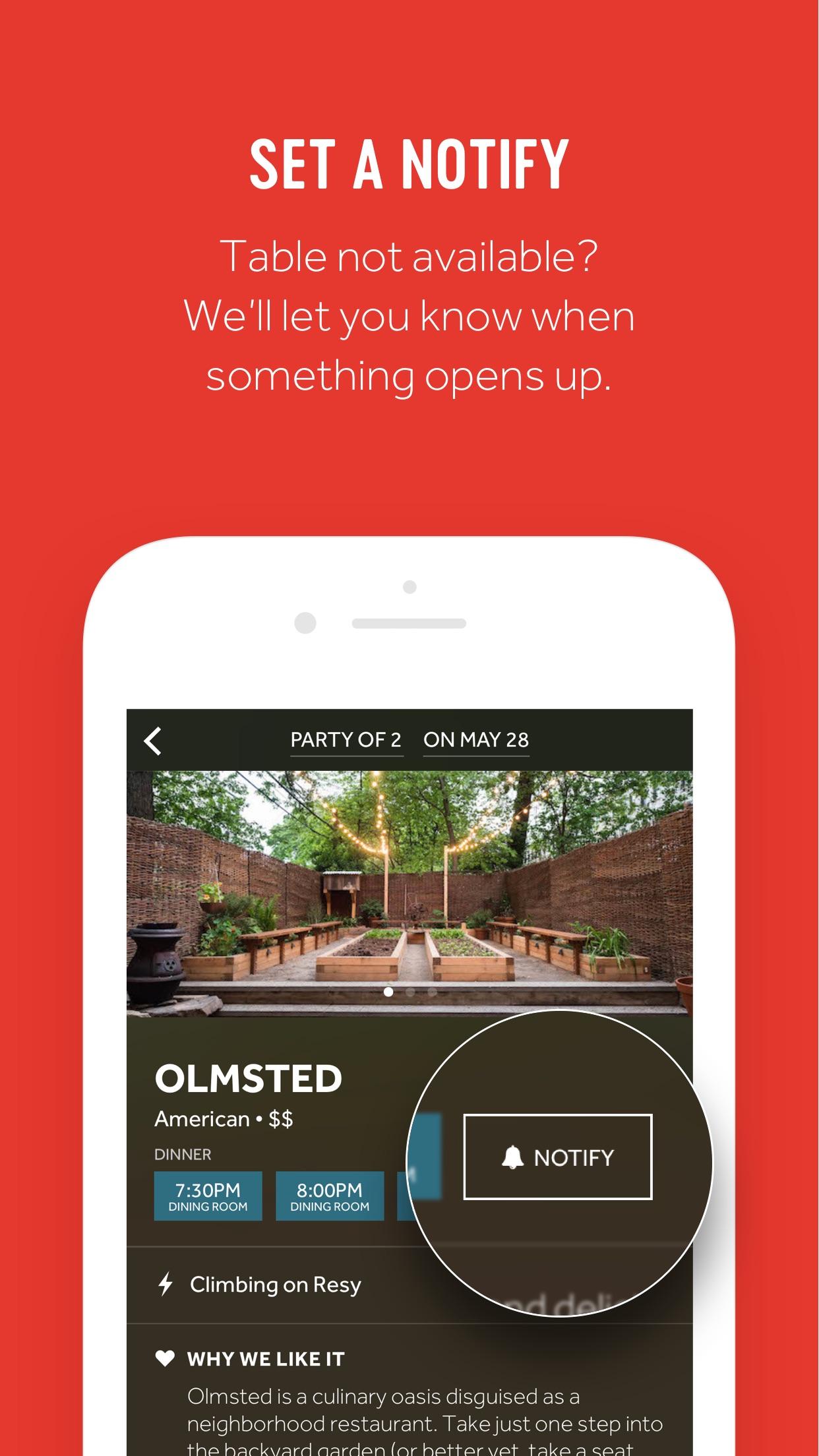 Resy | Restaurant Reservations Screenshot