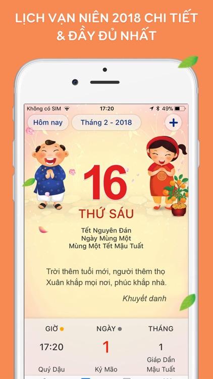 Lich Van Nien 2018 - Lich Viet screenshot-0
