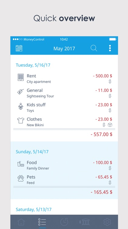 MoneyControl Spending Tracker screenshot-2