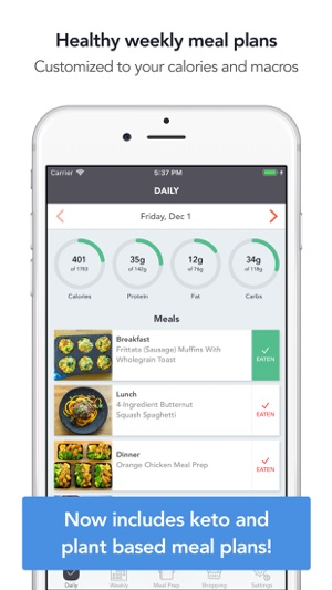Mealpreppro Meal Prep Planner On The App Store