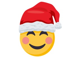 Santa is coming to town, with EmojiOne's Santa Smiley sticker pack