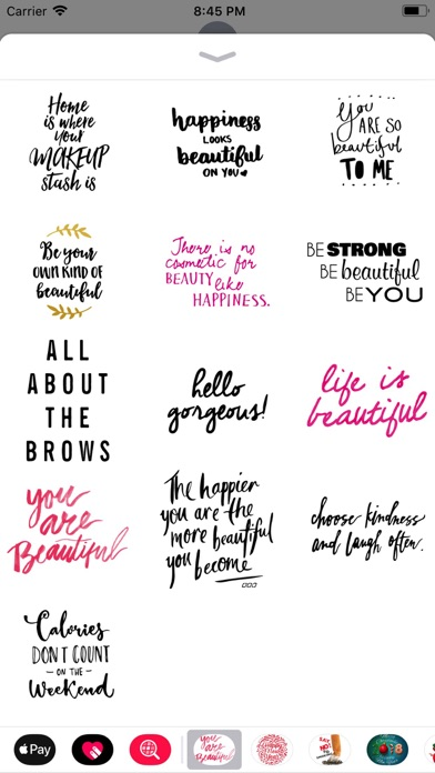 Screenshot for Beauty Love Quote Sticker Pack in Venezuela App Store