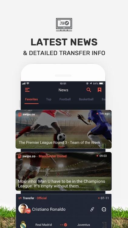 SWIPS - Sports Live Scores screenshot-5