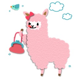 Lovely Alpaca Emoji Sticker