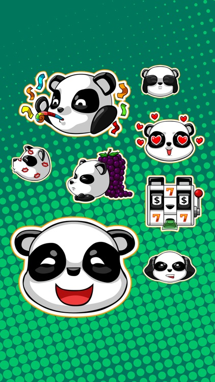 Cute Panda - iMessage Stickers screenshot-3