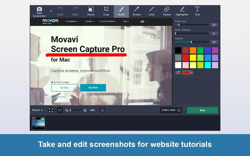 Screen Capture Pro Movavi Screenshot