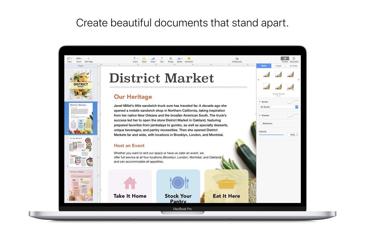 Apple Pages 7 0 – Apple's word processor from the iWork suite