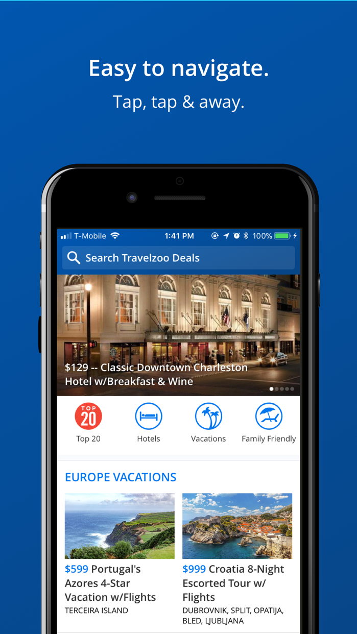 Travelzoo Hotel & Travel Deals Screenshot