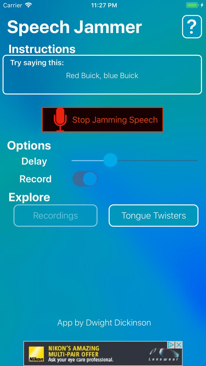 Speech Jammer Screenshot