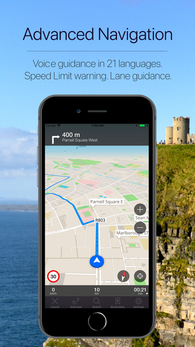 Ireland Offline Navigation Screenshot