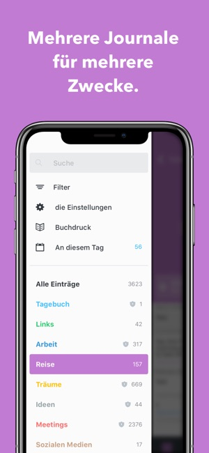 Day One Tagebuch + Notizen Screenshot