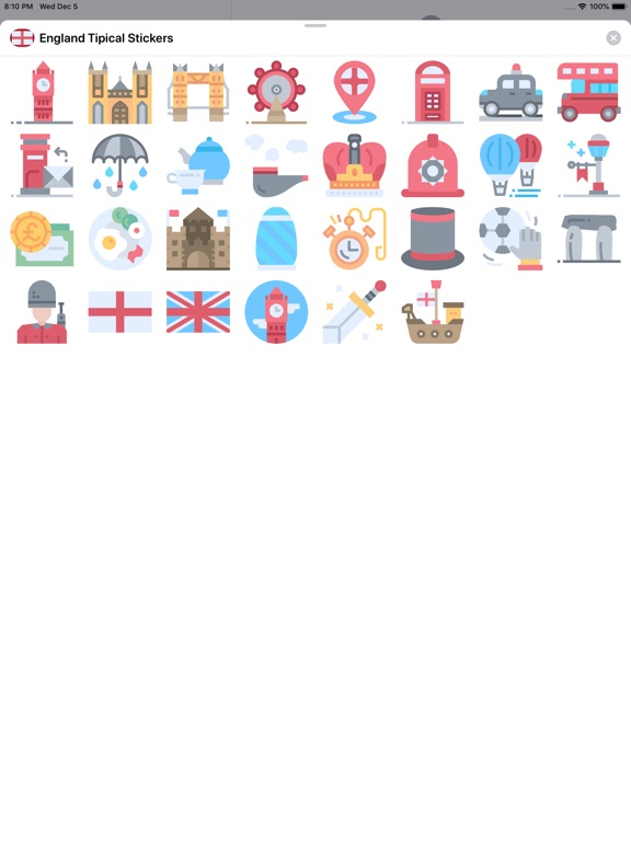 England Tipical Stickers screenshot 5