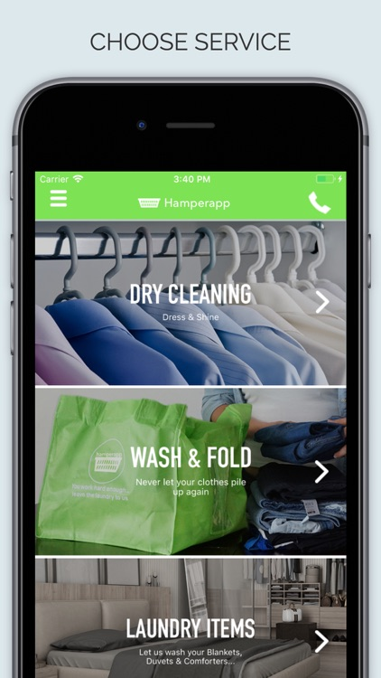 Hamperapp - On Demand Laundry