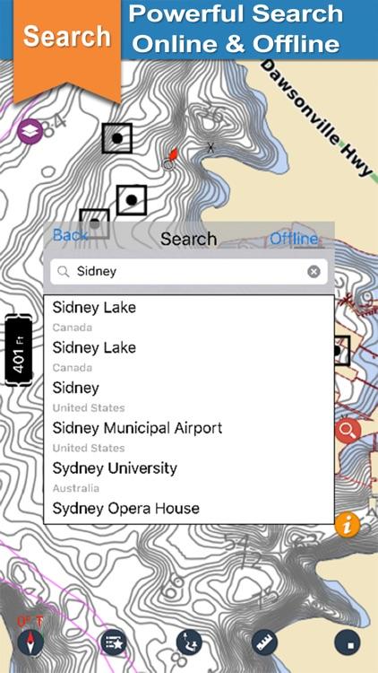 Lake Sidney Lanier gps offline chart for boaters