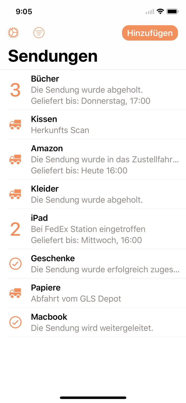 Parcel Screenshot