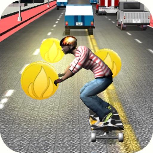 Skateboard Speed Race