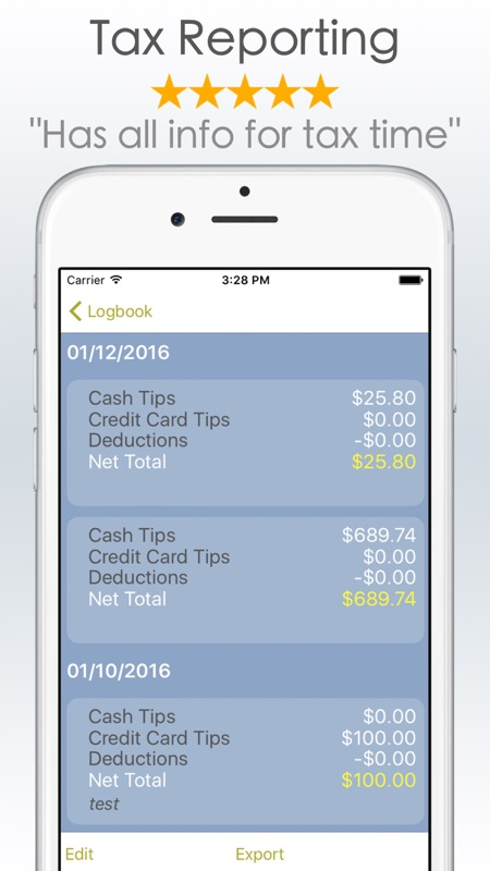 TipMe - Tip Income Tracker App - Online Game Hack and Cheat